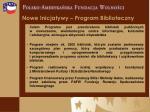 nowe inicjatywy program biblioteczny