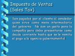 impuesto de ventas sales tax