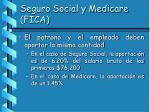 seguro social y medicare fica