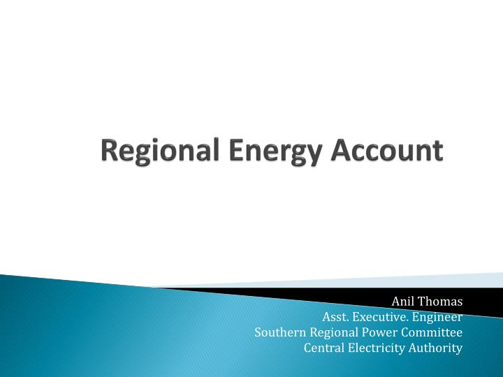 regional energy account n.