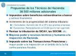 propuestas de los t cnicos de hacienda 38 500 millones adicionales