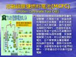 mcfc molten carbonate fuel cell