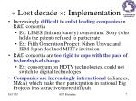 lost decade implementation