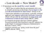 lost decade new model