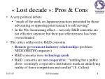 lost decade pros cons