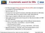 a systematic search for dbs