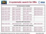 a systematic search for dbs3