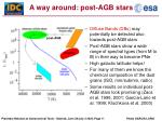 a way around post agb stars