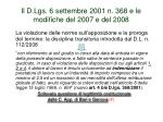il d lgs 6 settembre 2001 n 368 e le modifiche del 2007 e del 20082