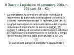 il decreto legislativo 10 settembre 2003 n 276 artt 54 591