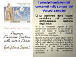 i principi fondamentali contenuti nella lettera dei vescovi campani1