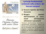 i principi fondamentali contenuti nella lettera dei vescovi campani2