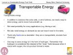 transportable energy