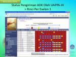 status pengiriman adk oleh uappa w rinci per eselon 1