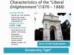 characteristics of the liberal enlightenment 1870 1888