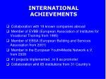 international achievements