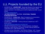 lll p rojects founded by the eu1
