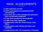 main achievements 31 10 2012