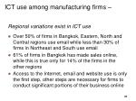 ict use among manufacturing firms
