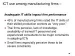 ict use among manufacturing firms1