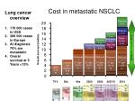 cost in metastatic nsclc