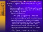 complete energy production process