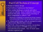 fuel cell technical concept