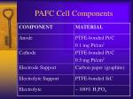 pafc cell components