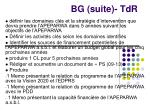 bg suite tdr