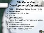 f84 pervasive developmental disorders