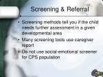 screening referral