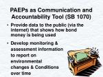 paeps as communication and accountability tool sb 1070