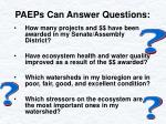 paeps can answer questions