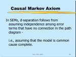 causal markov axiom1