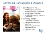 continuing consultation dialogue