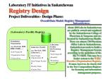 laboratory it initiatives in saskatchewan registry design