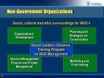 non government organizations