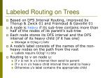 labeled routing on trees