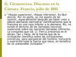 g clemenceau discurso en la c mara francia julio de 1885