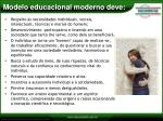 modelo educacional moderno deve