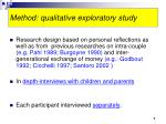 method qualitative exploratory study
