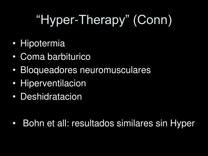 """""""Hyper-Therapy"""" (Conn)"""