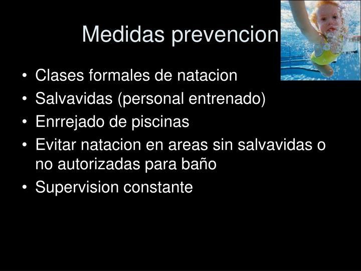 Medidas prevencion