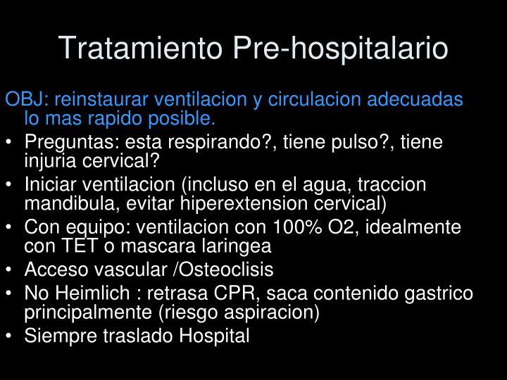 Tratamiento Pre-hospitalario