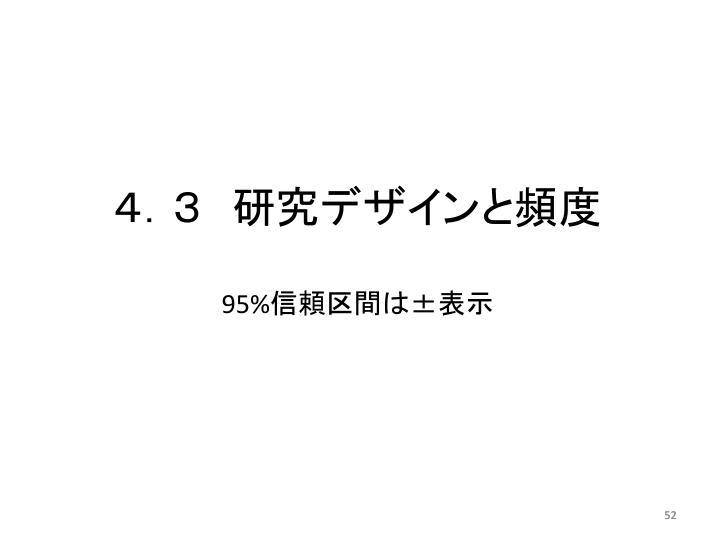 4.3 研究デザインと頻度