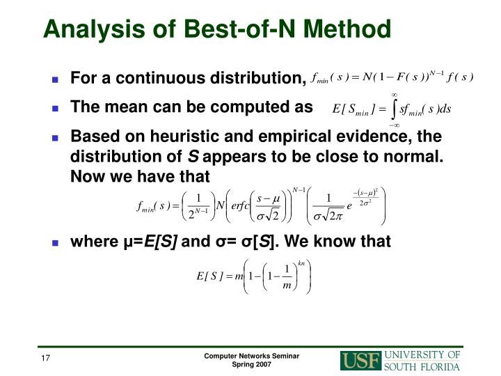 Analysis of Best-of-N Method