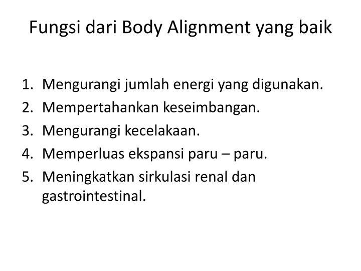 Fungsi dari Body Alignment yang baik