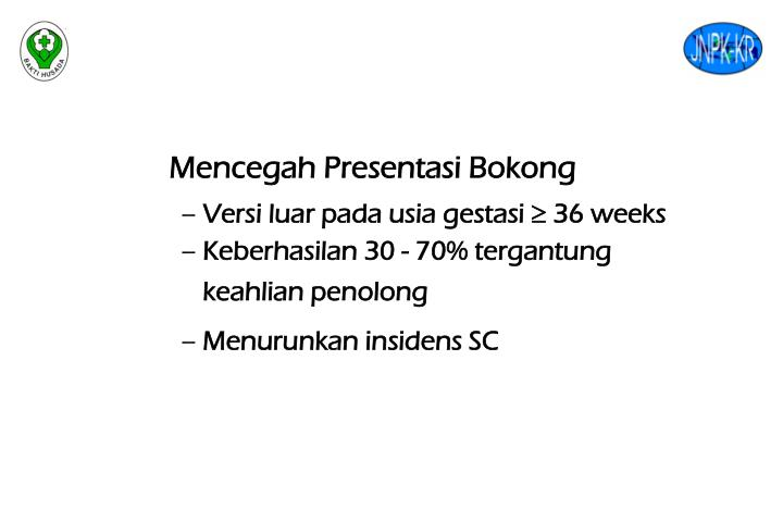Mencegah Presentasi Bokong