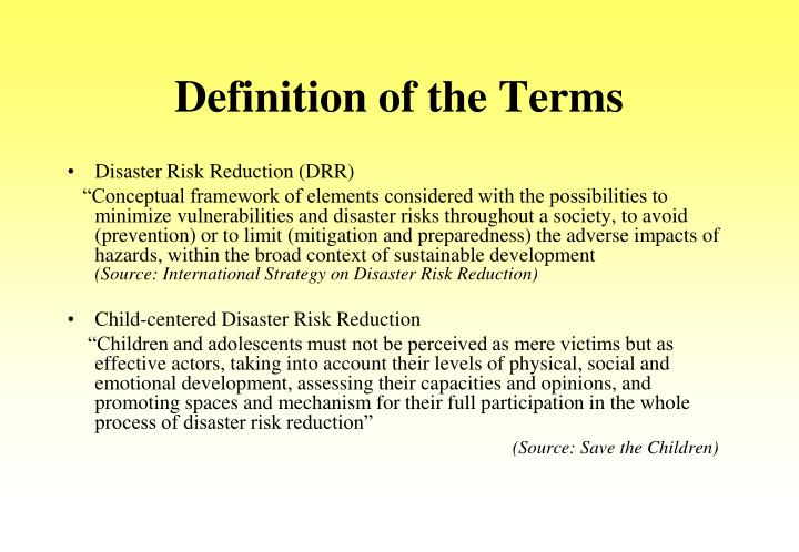 Definition of the Terms
