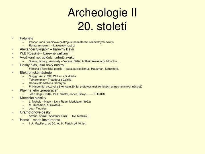 Archeologie II